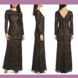 NEW Tadashi Shoji Vibiana Embroidered Sequin Gown